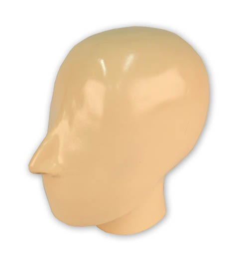 Röntgenphantom Kopf mit Halswirbeln, opak