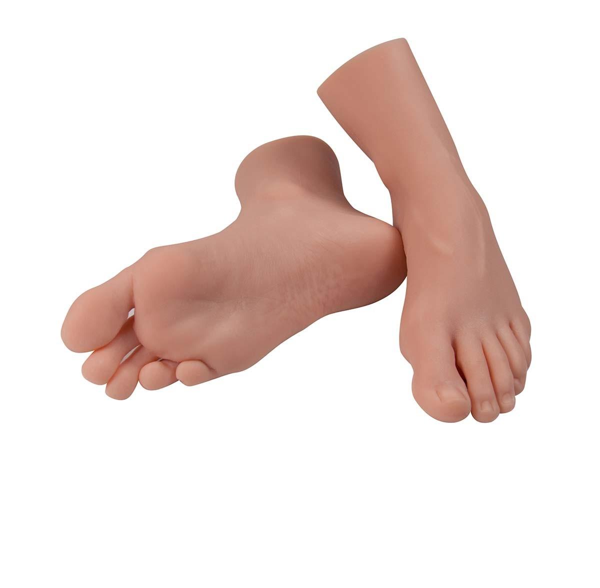 Fußrepliken für Pflegeübungen