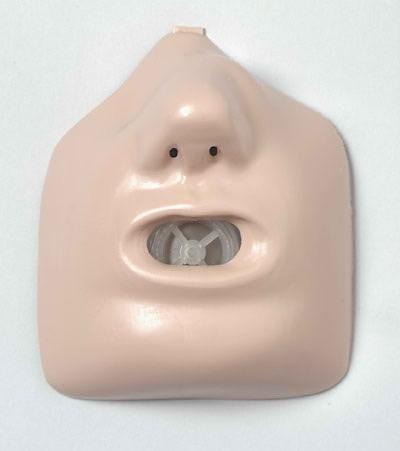 Gesichtsteile, 25 Stück für Wiederbelebungspuppe und -torso Erwachsener